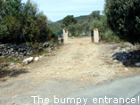 The bumpy entrance!